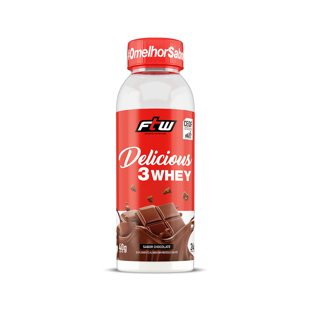 Delicious 3Whey Chocolate Dose Única 40g - FTW