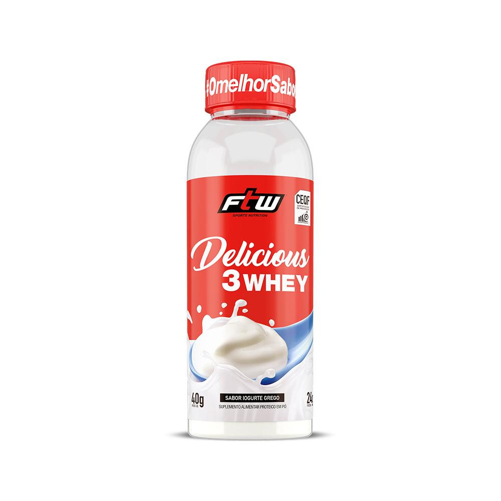 Delicious 3Whey Iogurte Grego Dose Única 40g - FTW