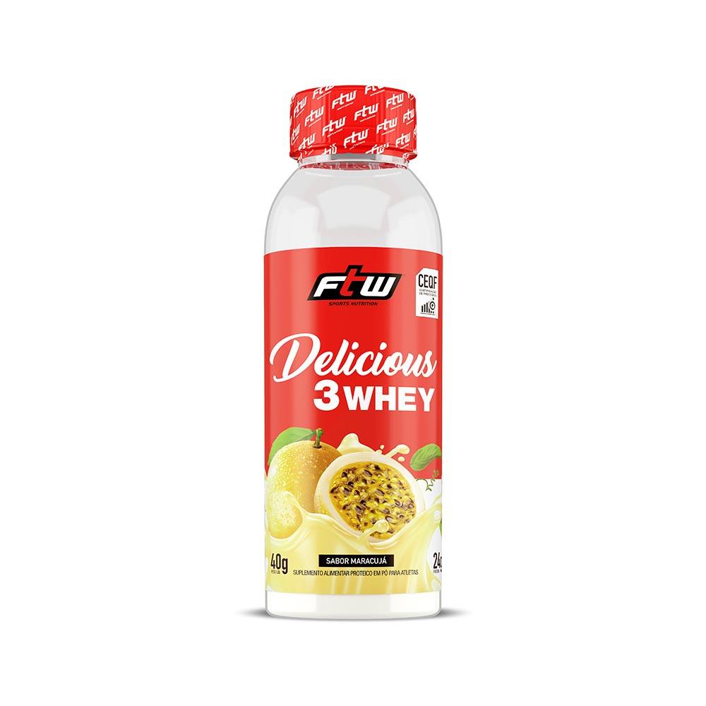 Delicious 3Whey Maracujá Dose Única 40g  - FTW