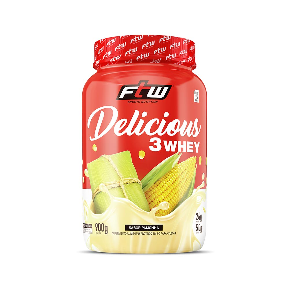 Delicious 3Whey Pamonha 900g - FTW