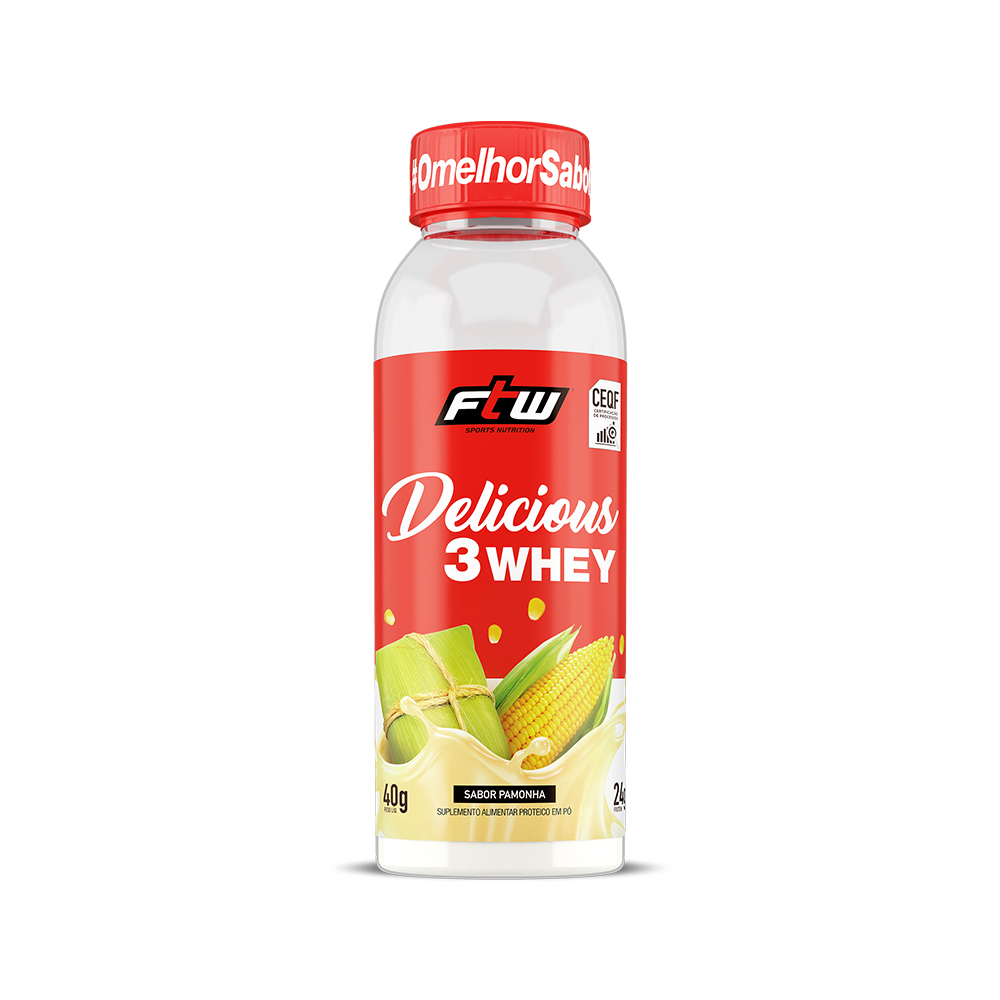 Delicious 3Whey Pamonha Dose Única 40g - FTW
