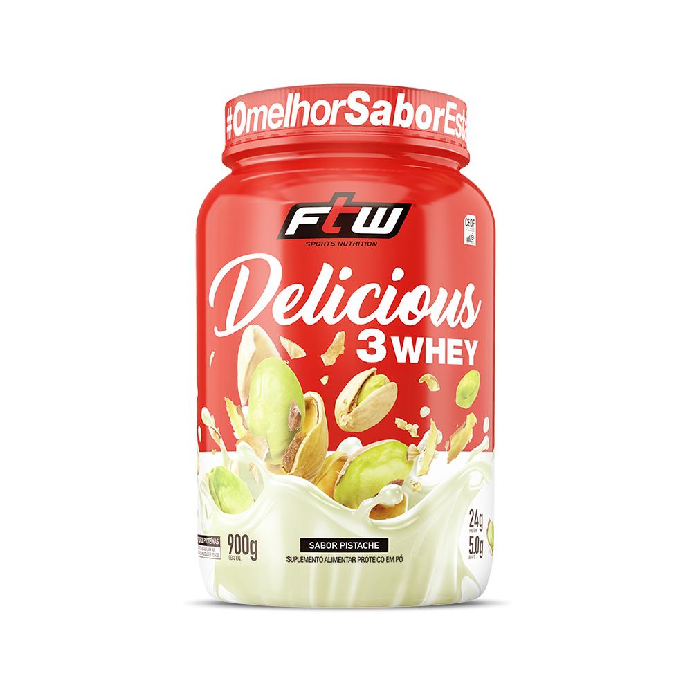 Delicious 3Whey Pistache 900g - FTW