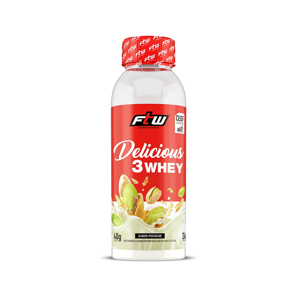 Delicious 3Whey Pistache Dose Única 40g  - FTW