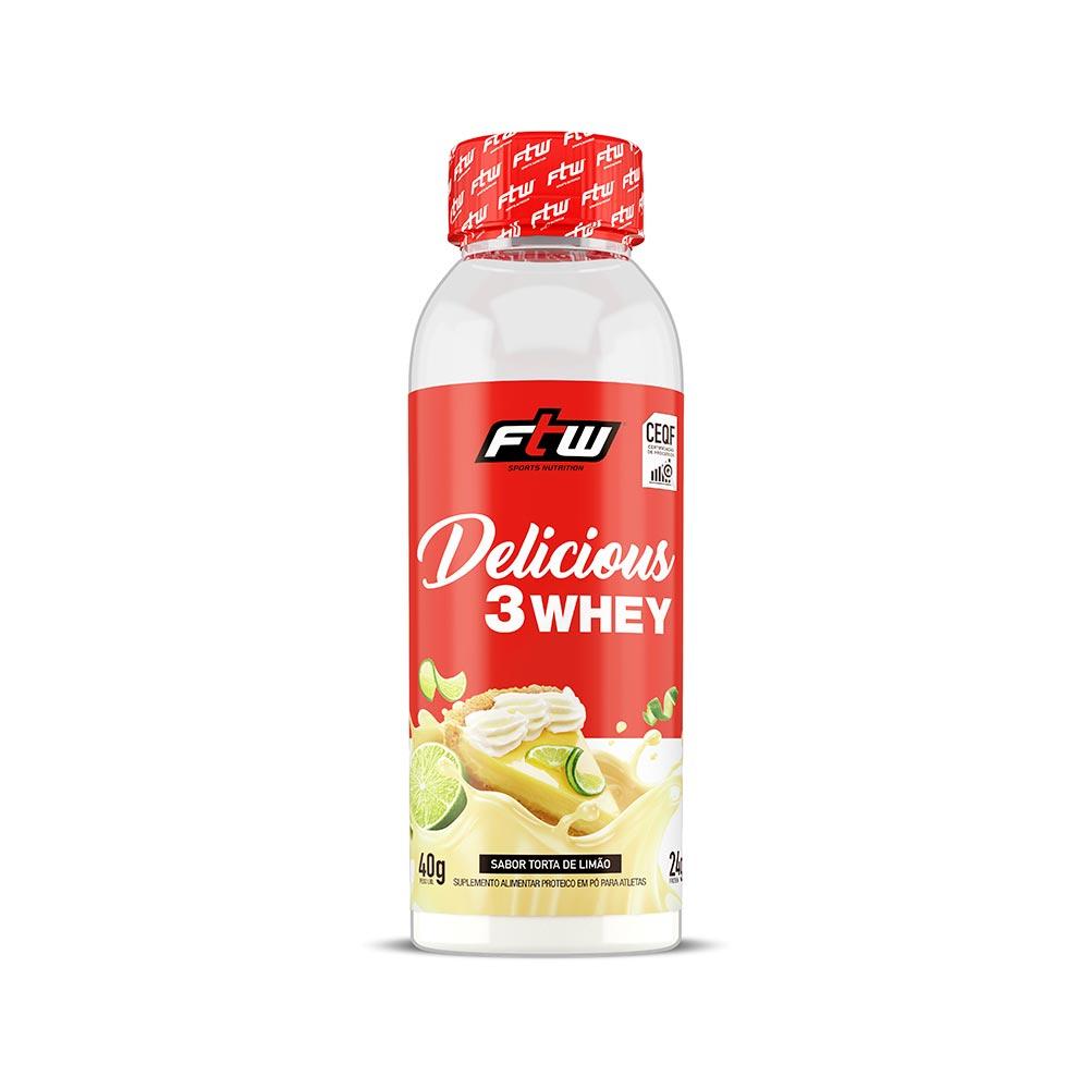 Delicious 3Whey Torta de Limão Dose Única 40g  - FTW