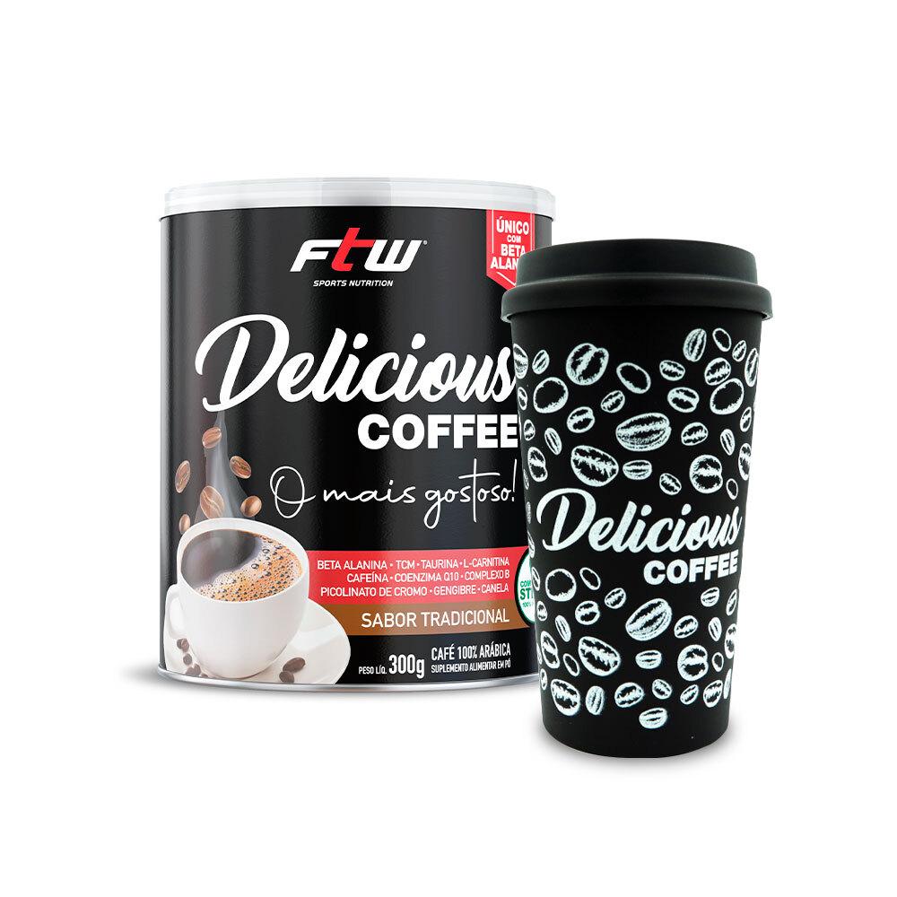 Delicious Coffee - 300g - Sabor Tradicional + Brinde Delicious Coffee