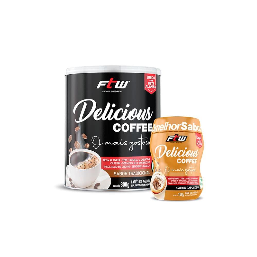 Delicious Coffee 300g Sabor Tradicional + Brinde Delicious Coffee 100g Sabor Capuccino