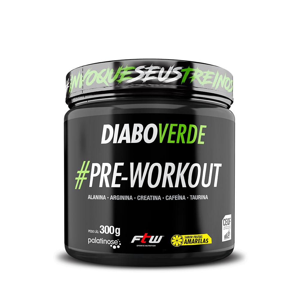 Diabo Verde #Pre-Workout Sabor Frutas Amarelas 300g - FTW