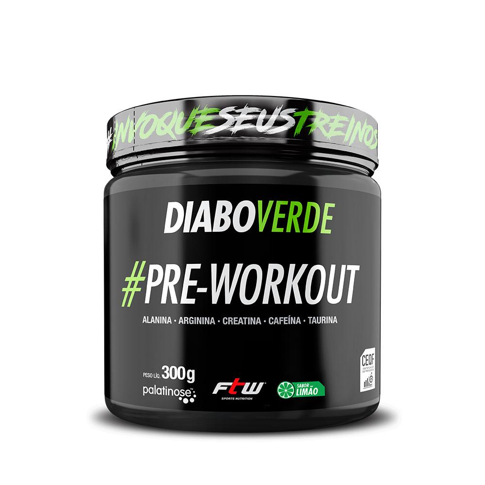 Diabo Verde #Pre-Workout Sabor Limão 300g - FTW