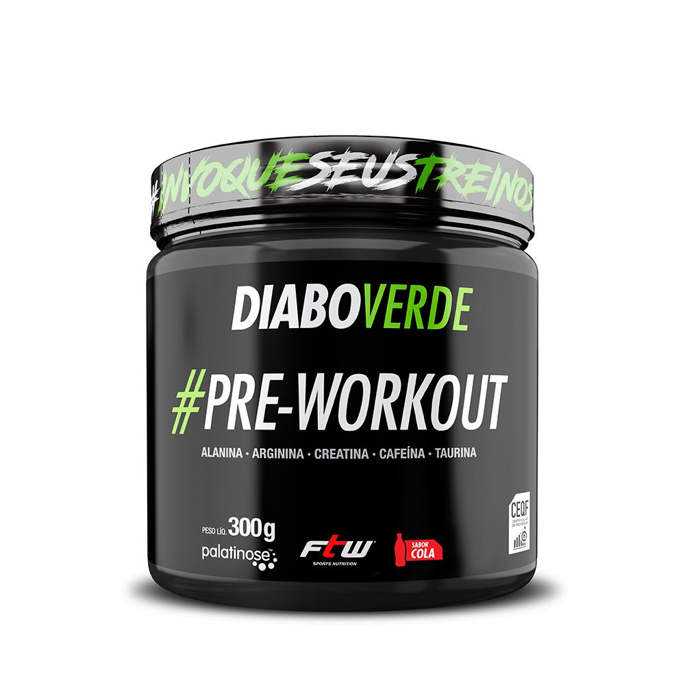 Diabo Verde #Pre-Workout Sabor Cola 300g - FTW