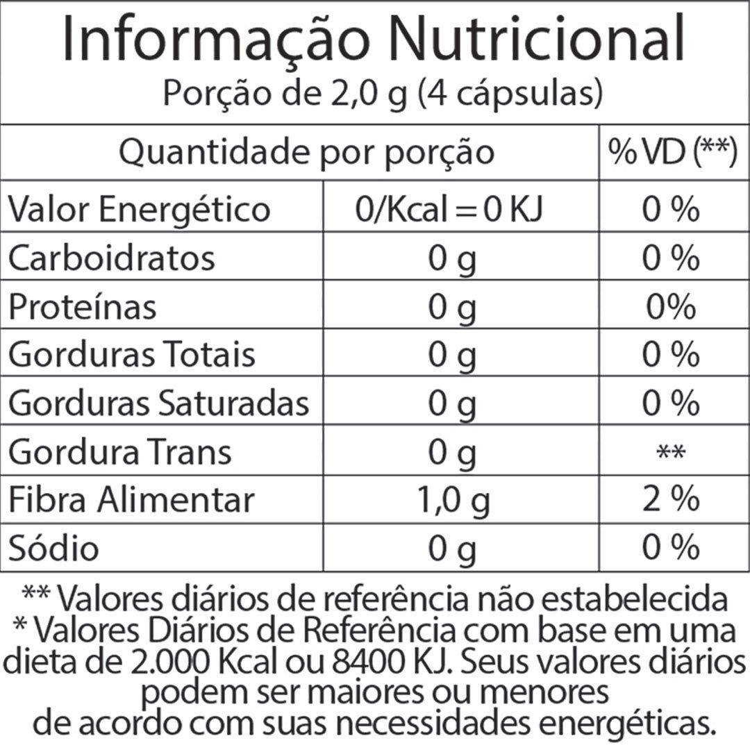 FIBRA DE MAÇÃ FITOWAY - 60 CÁPSULAS