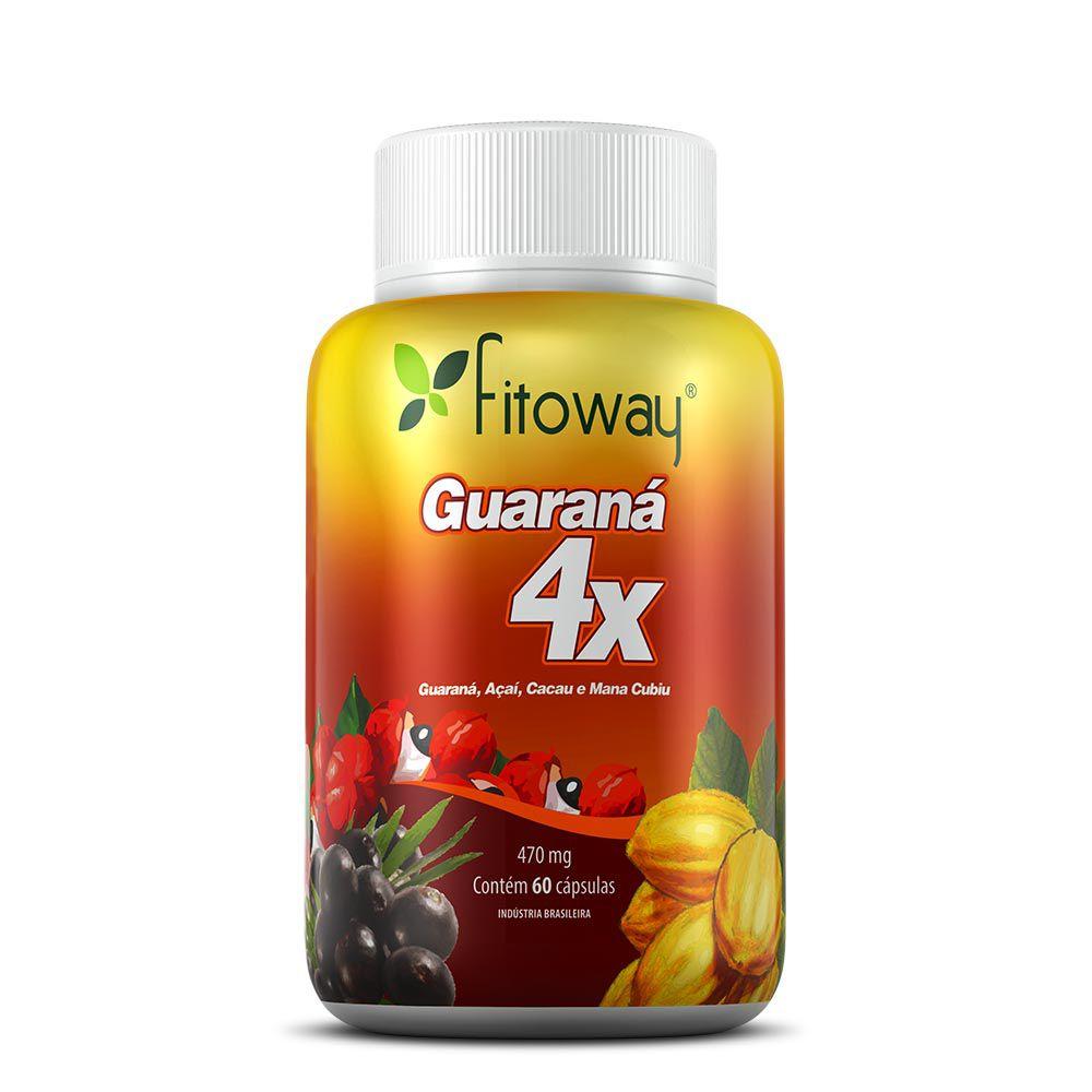 GUARANÁ 4X FITOWAY - 60 CÁPSULAS