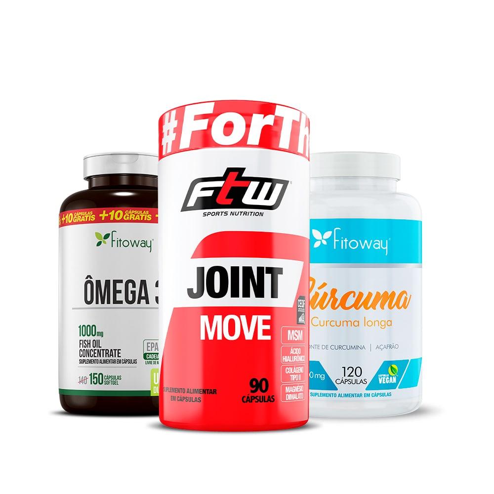 Joint Move + Ômega 3 150 Cáps + Cúrcuma 120 Cáps -  rr1