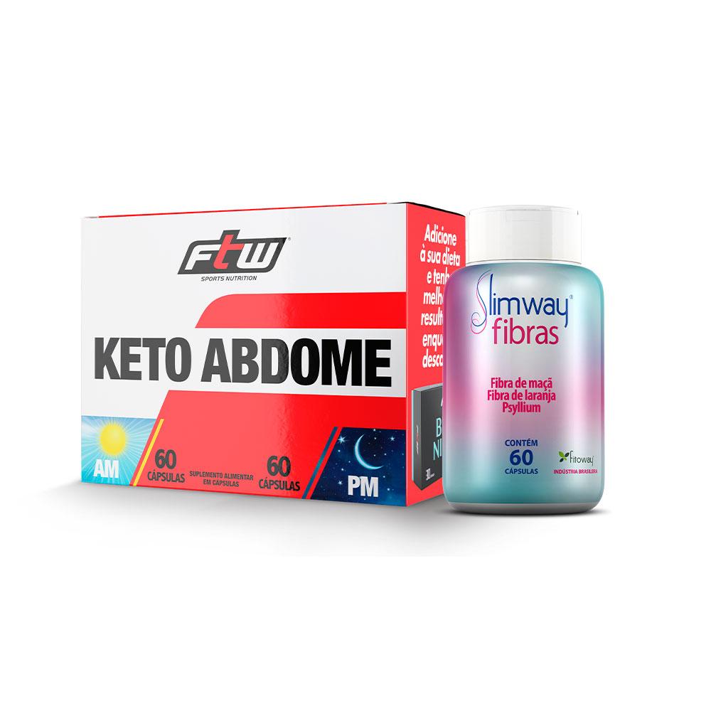 Keto Abdome 120 Cáps + SlimWay Fibras 60 Cáps - tt1