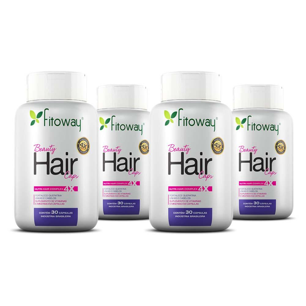 Kit Beauty Hair 30 cáps Compre 3 e leve 4 - Fitoway