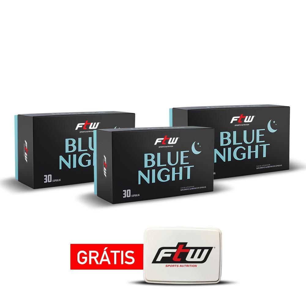 KIT BLUE NIGHT 3 CAIXAS + PORTA CÁPSULAS