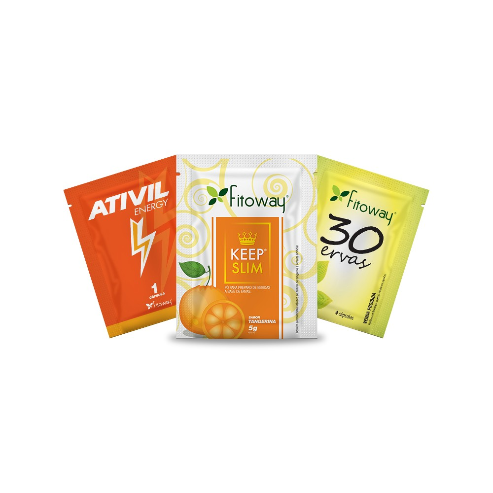 Kit dose única 30 Ervas + Ativil Energy + Keep Slim - Fitoway