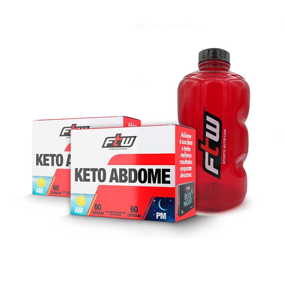 Kit Seu objetivo 2x Keto Abdome + Brinde Galão FTW