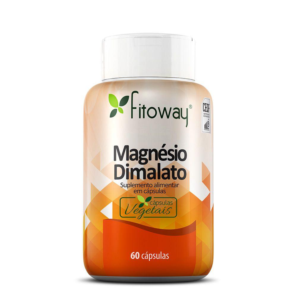 Magnésio Dimalato 60 cáps - Fitoway
