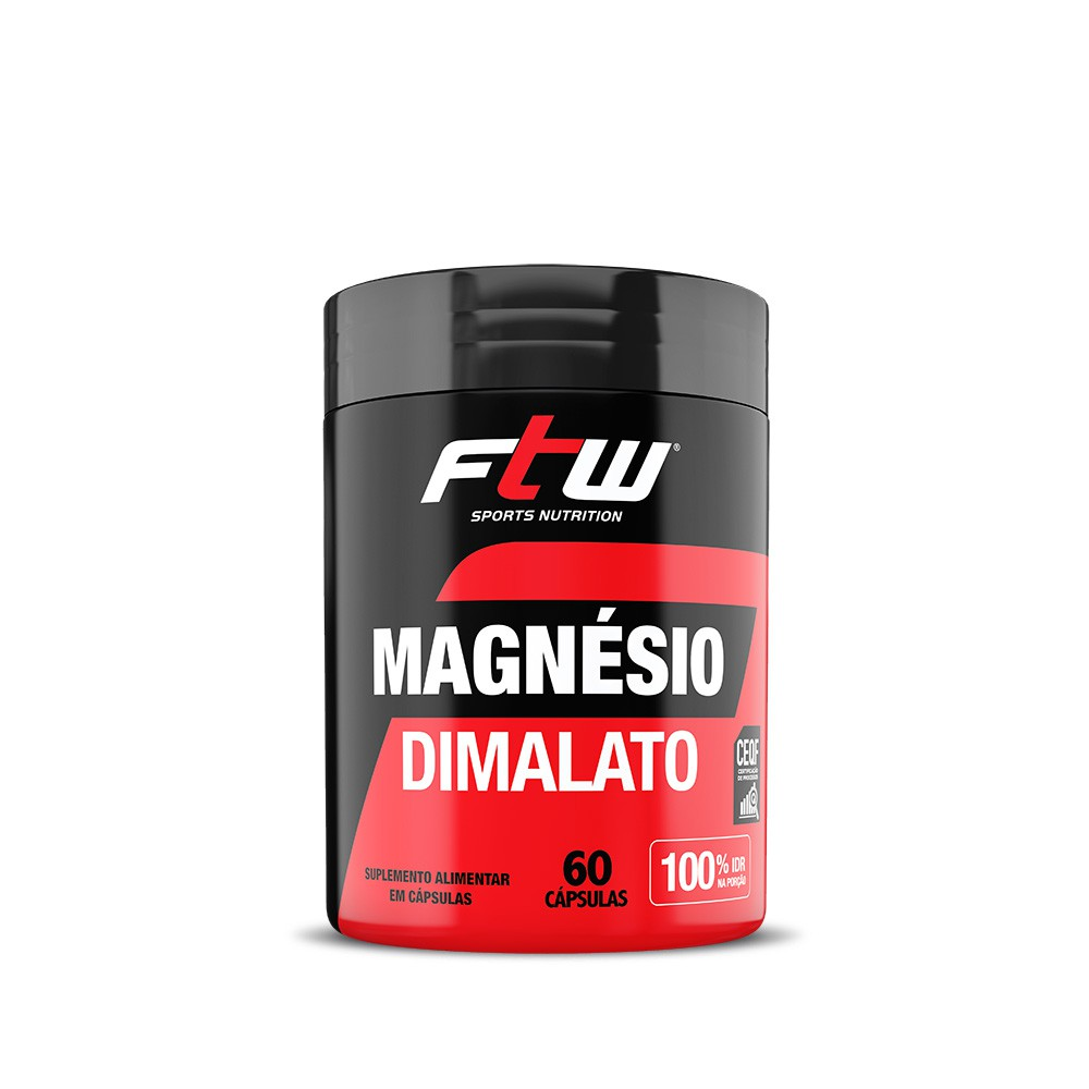 Magnésio Dimalato 60 cáps - FTW