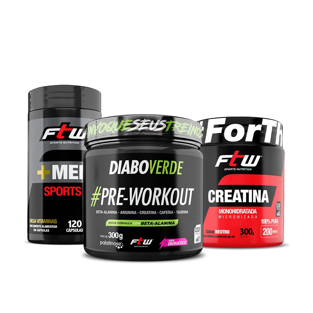 +Men Sports + Diao Verde #Pre-workout 300g sabor energético + Creatina 300g - ee1