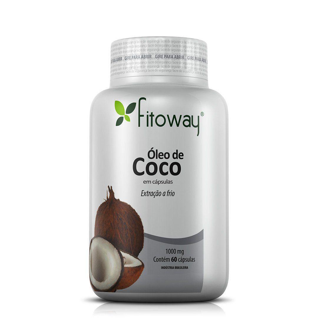 ÓLEO DE COCO FITOWAY 1.000mg - 60 CÁPSULAS