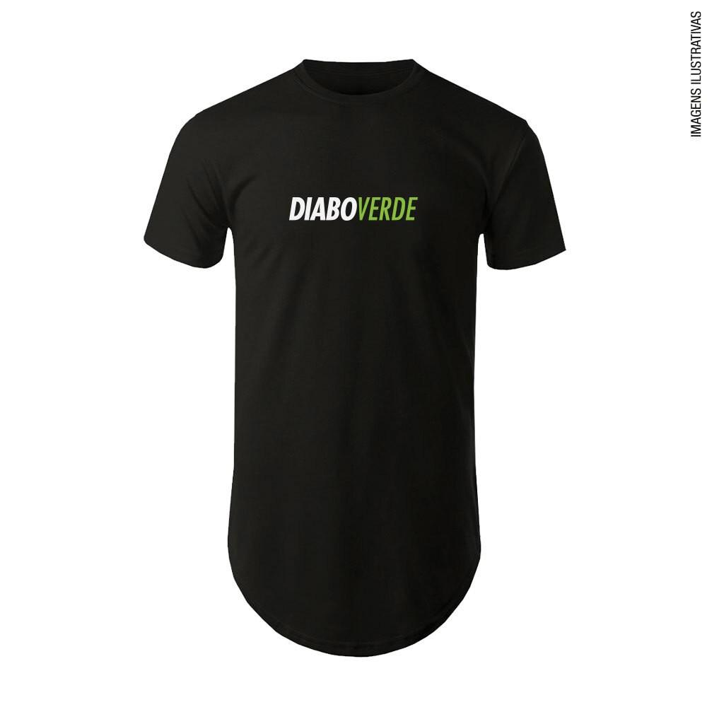 Camiseta Diabo Verde Preta Tradicional Algodão FTW