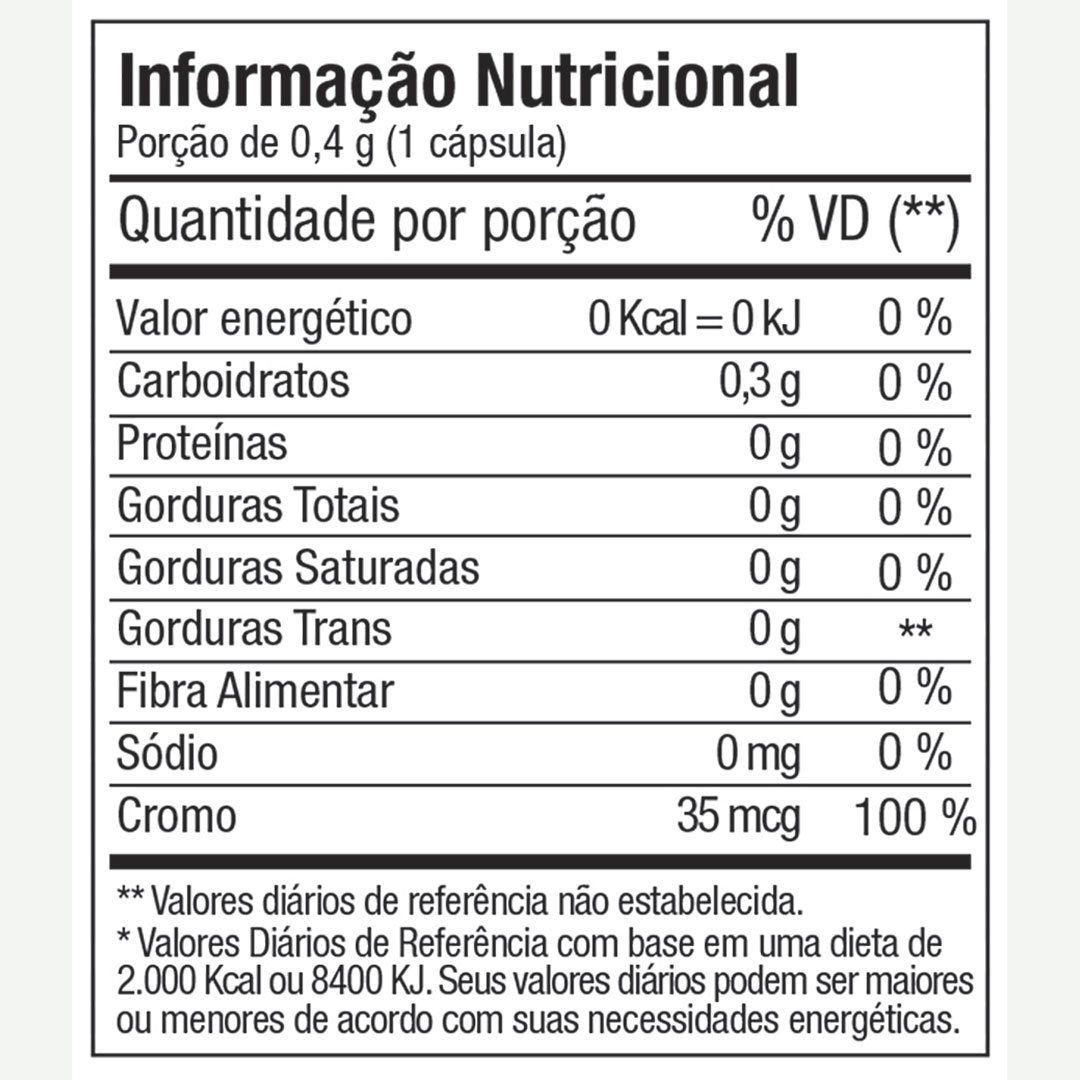 PICOLINATO DE CROMO FITOWAY 315mcg - 60 CÁPS