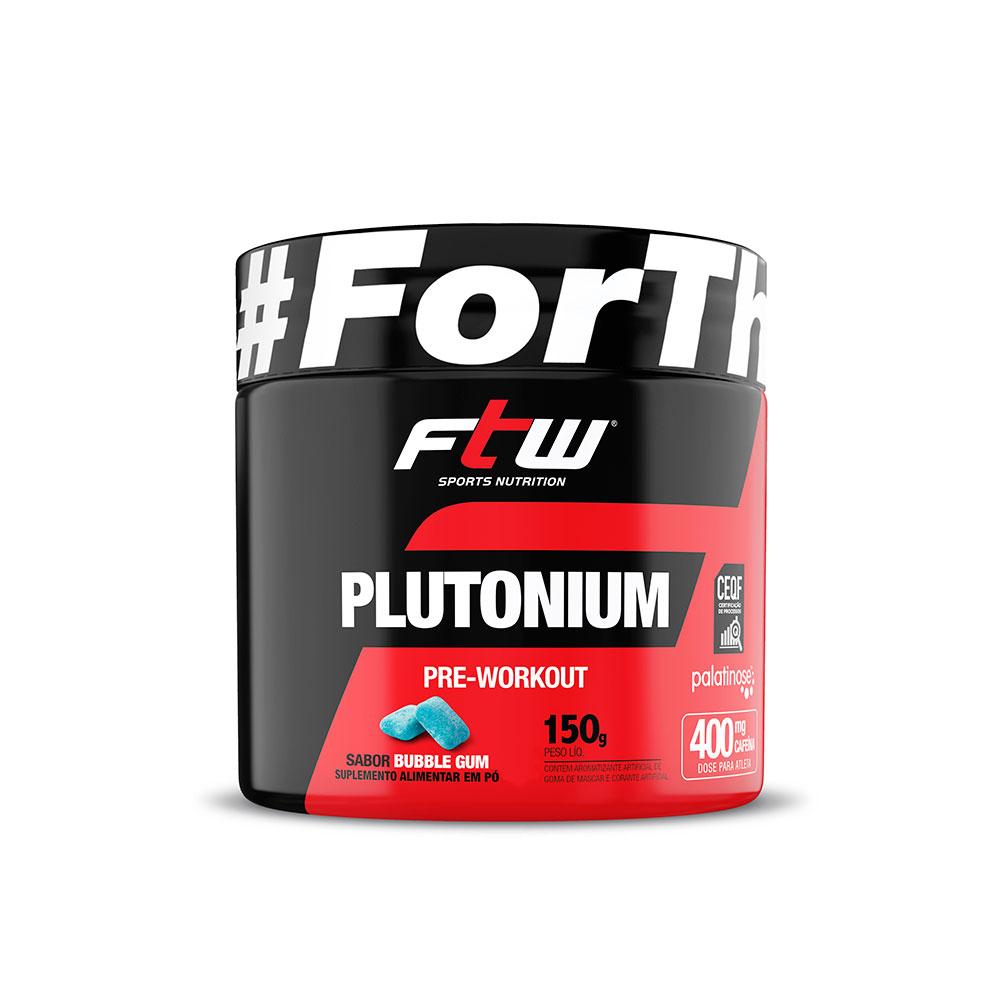 Plutonium Pre Workout 150g Sabor Bubble Gum - FTW