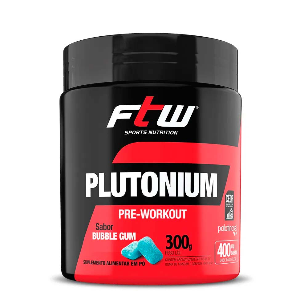 Plutonium Pre Workout 300g Sabor Bubble Gum - FTW