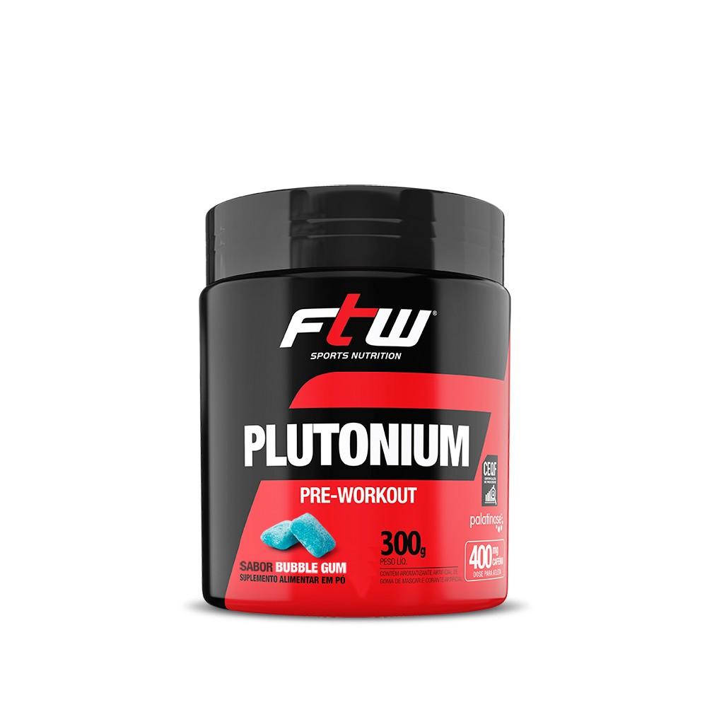 Plutonium Pre Workout 300g Sabor Bubble Gum - FTW