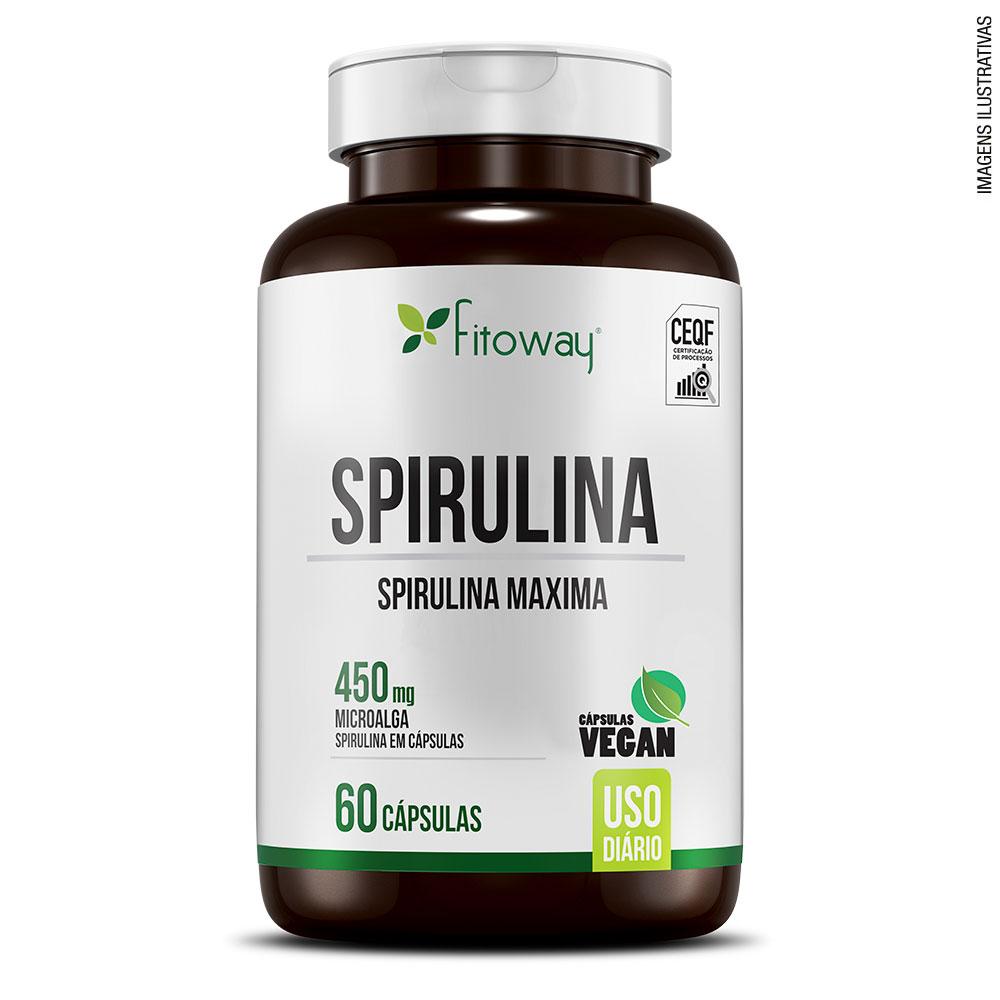 SPIRULINA FITOWAY CLEAN - 60 CÁPS