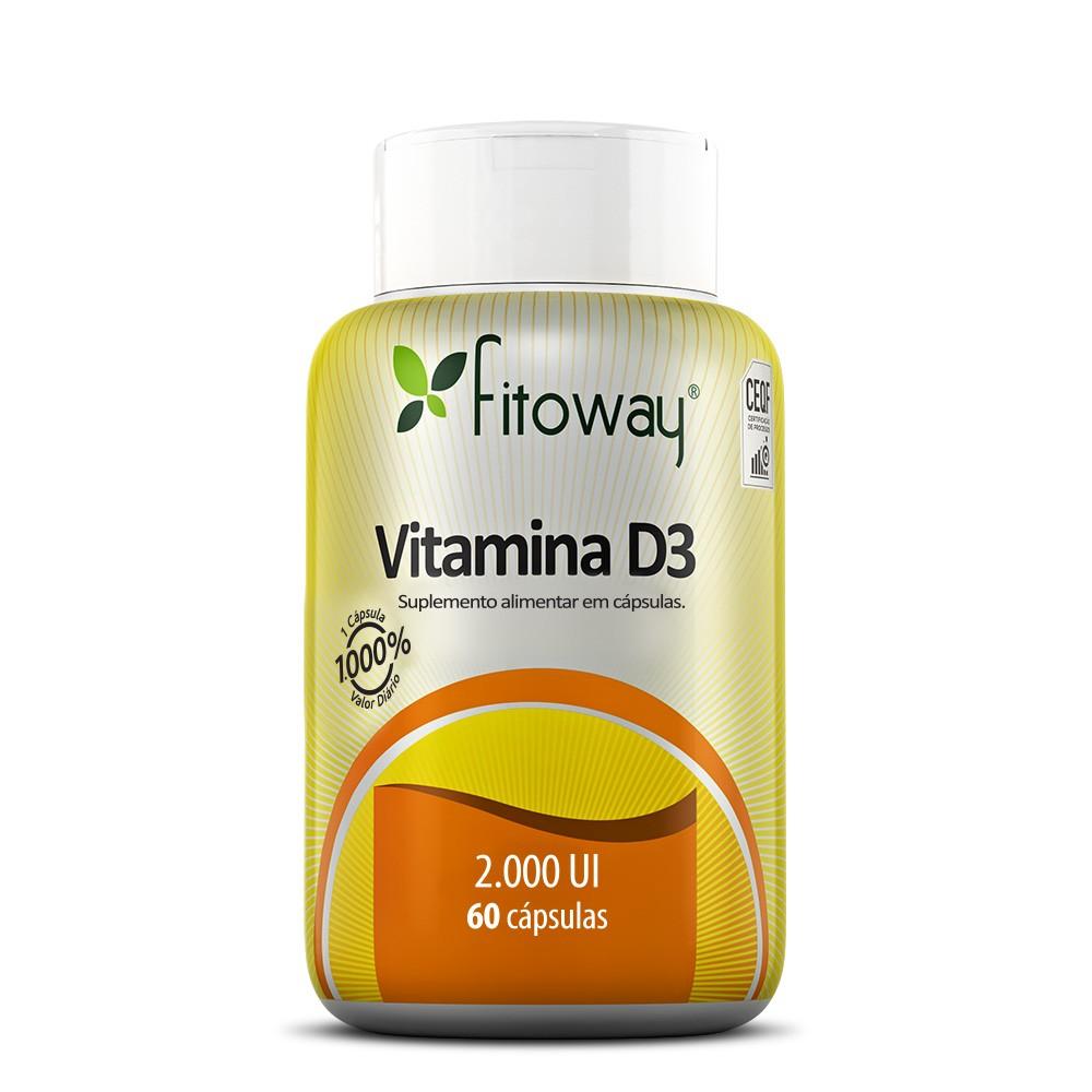 Vitamina D3 2000 UI - 60 cáps