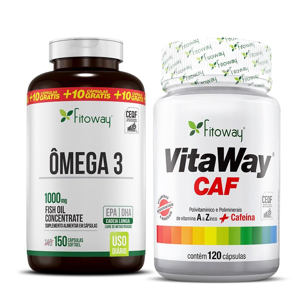 Vitaway Caf 120 Cáps + Ômega 3 Fitoway 150 Cáps - zz1