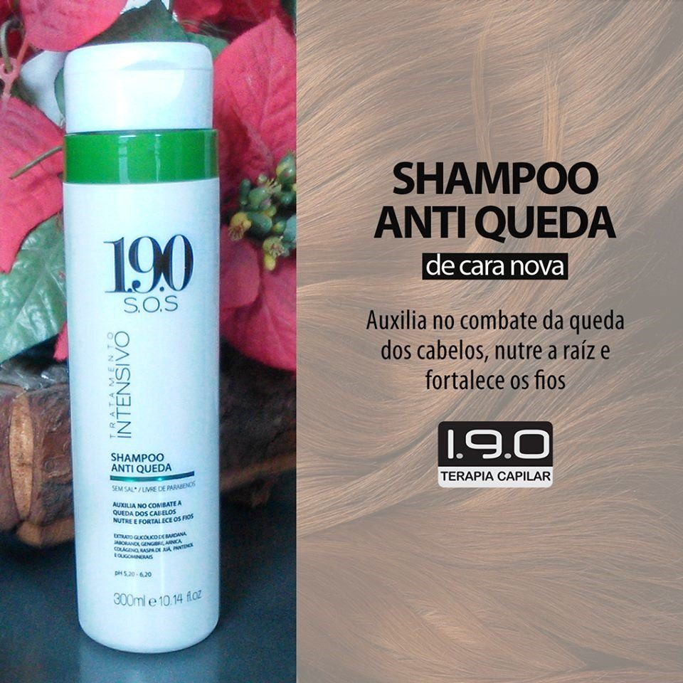 1.9.0. Shampoo Antiqueda Gengibre e Jaborandi 300mL