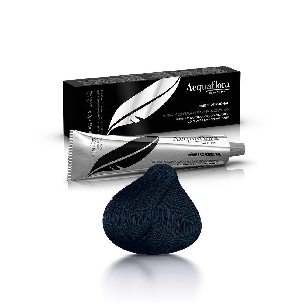 Acquaflora Coloração Profissional Preto Azulado 1.1 60 g