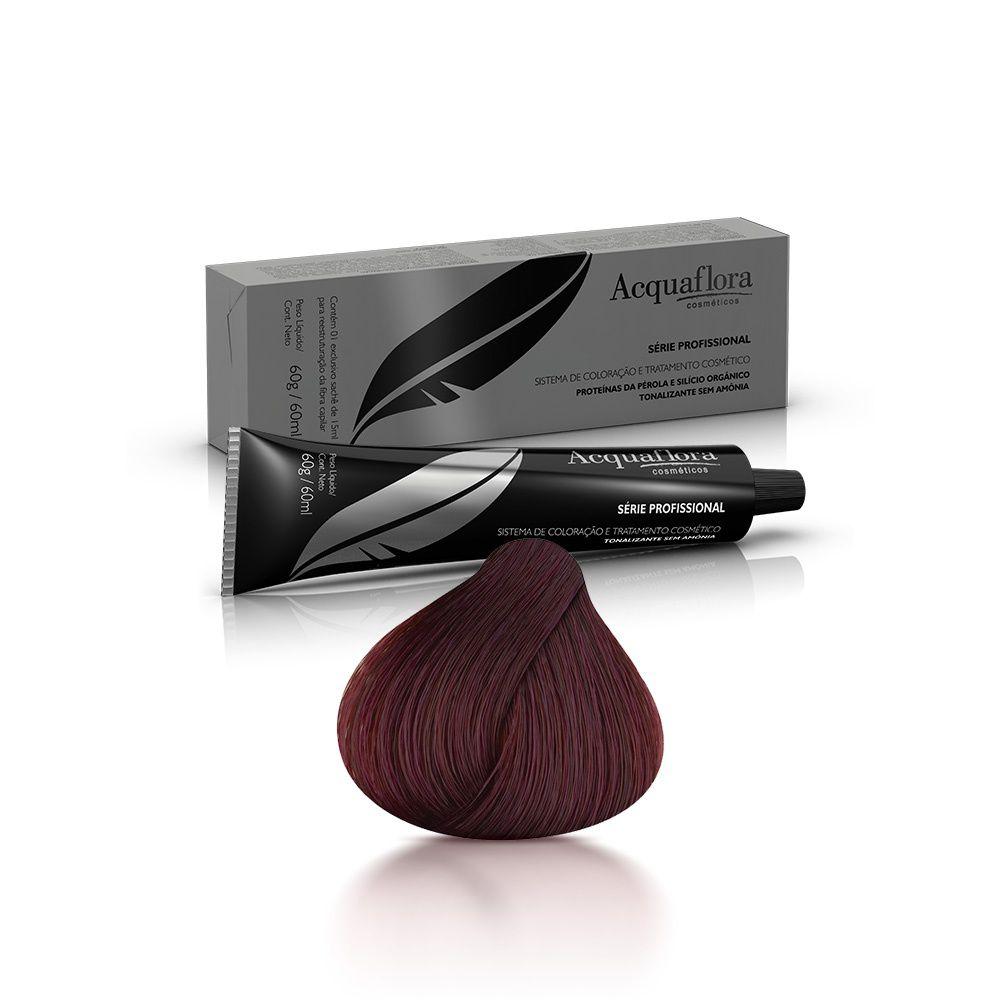 Acquaflora Coloração Tonalizante Castanho Escuro Vermelho Intenso 3.66 60 g