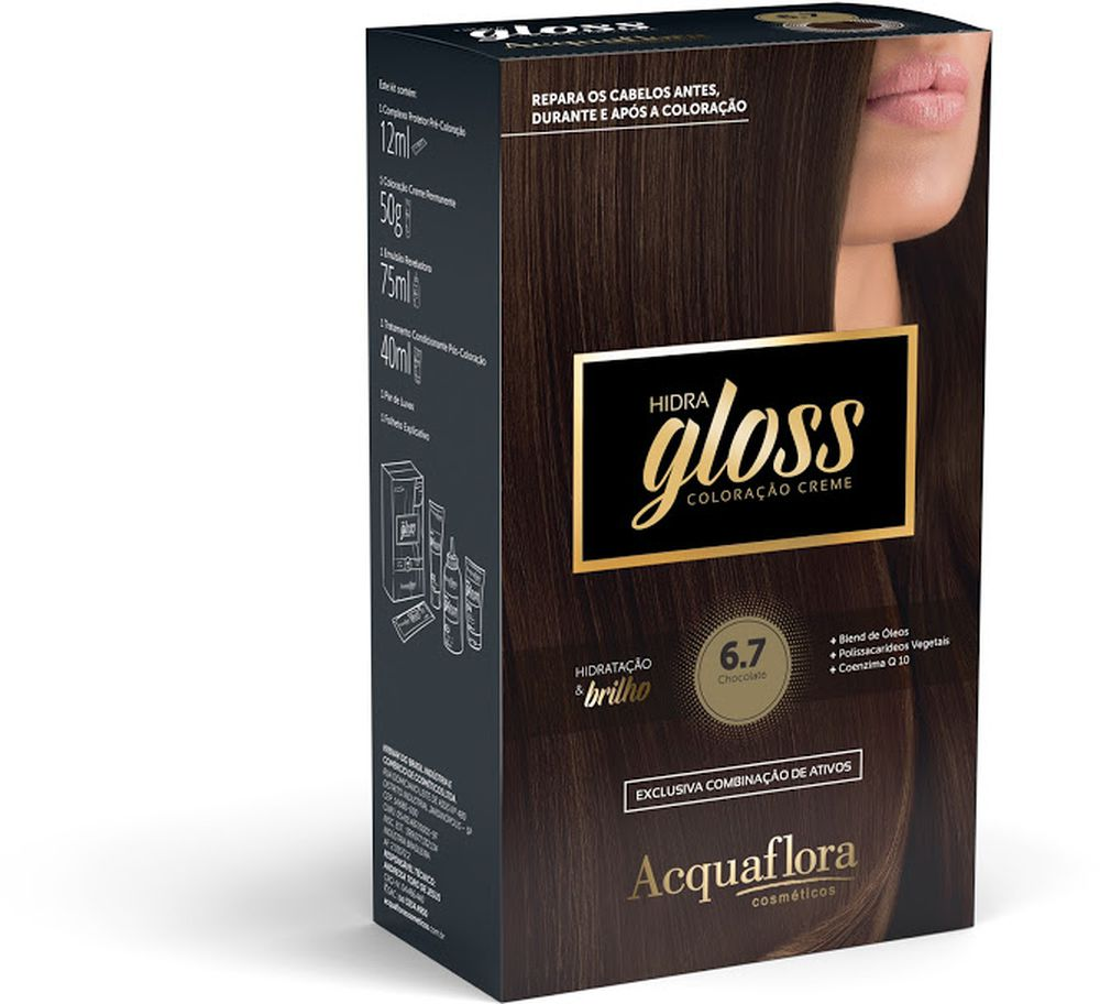 Acquaflora Kit Coloração Hidra Gloss Chocolate 6.7
