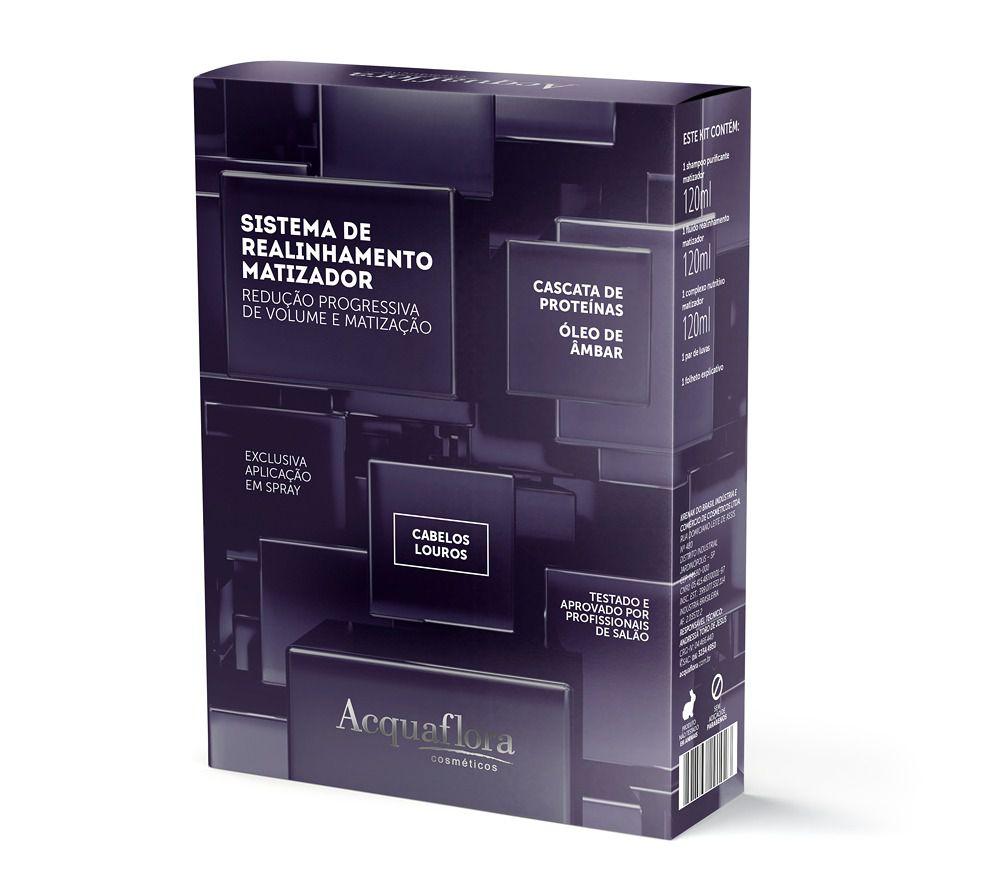 Acquaflora Kit para Progressiva Sistema de Realinhamento Matizador Cabelos Louros