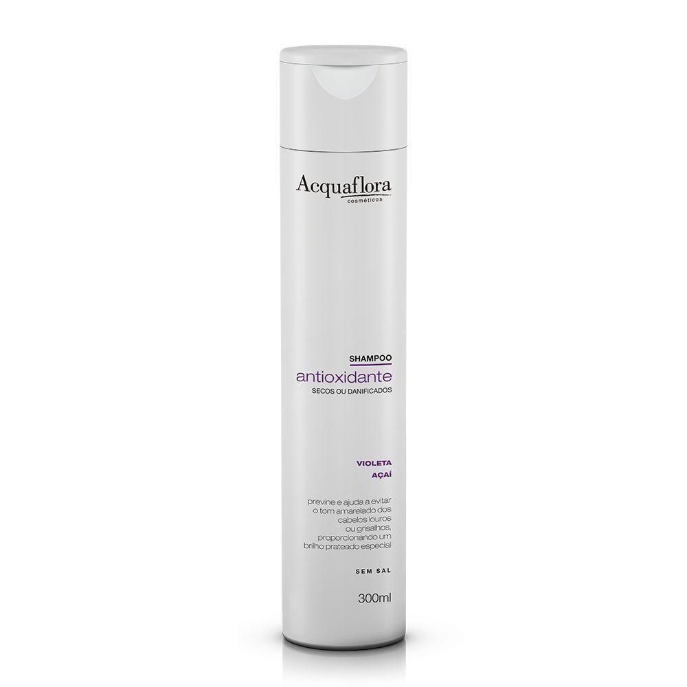Acquaflora Shampoo Antioxidante - Secos ou Danificados - Violeta e Açaí 300 mL