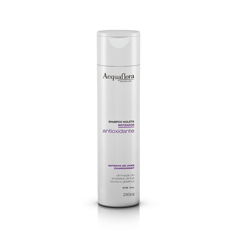 Acquaflora Shampoo Antioxidante Violeta Matizador - Extrato de Uvas 240 mL