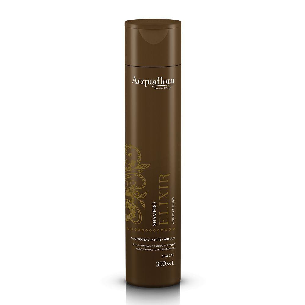 Acquaflora Shampoo Elixir - Normais ou Mistos - Monoi do Tahiti e Argan 300 mL