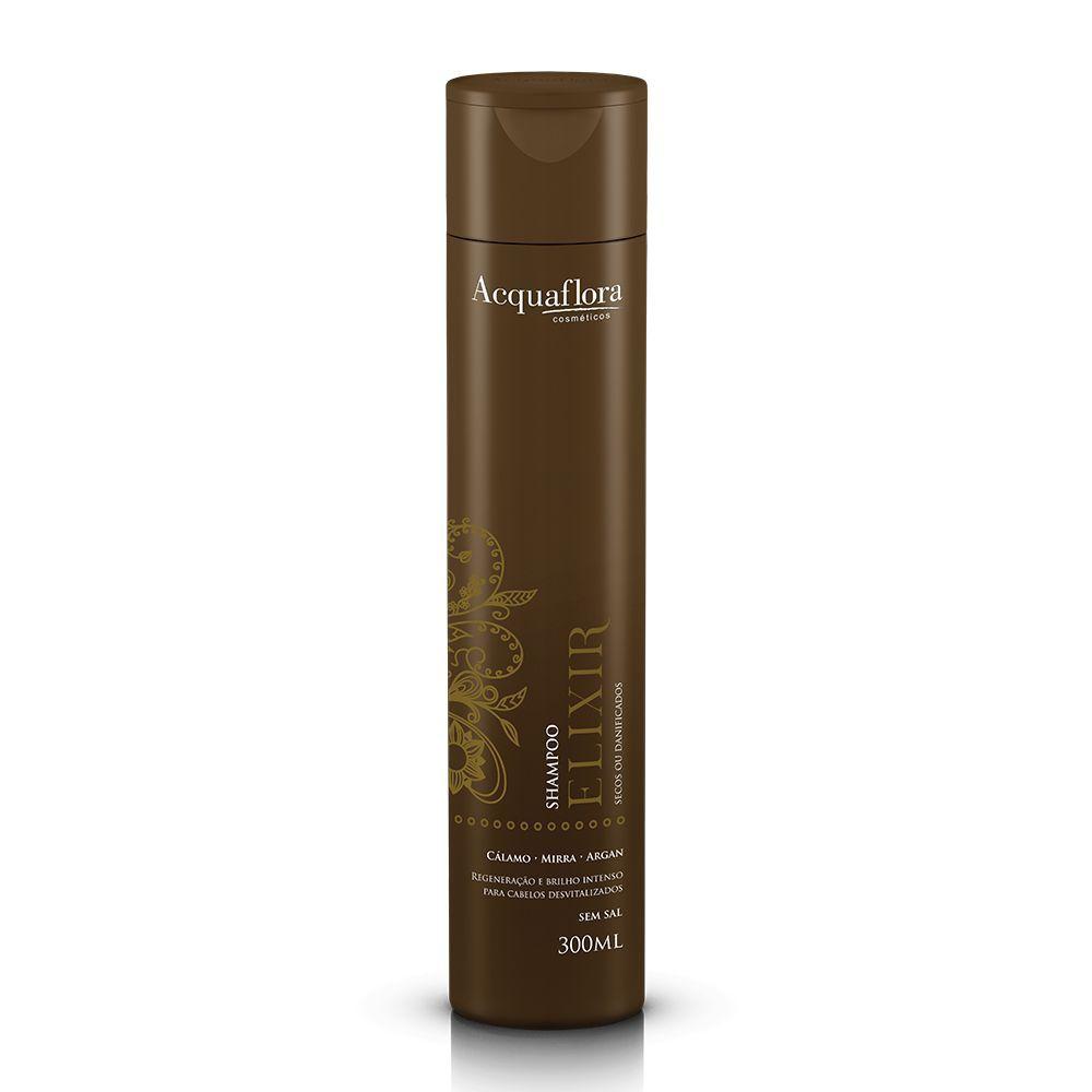 Acquaflora Shampoo Elixir - Secos ou Danificados - Cálamo, Mirra e Argan 300 mL