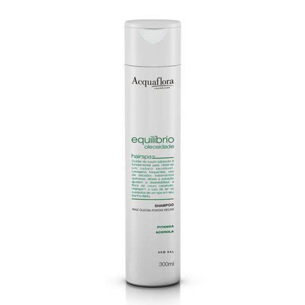 Acquaflora Shampoo Equilíbrio Oleosidade - Raiz Oleosa e Pontas Secas - Pitanga e Acerola 300 mL