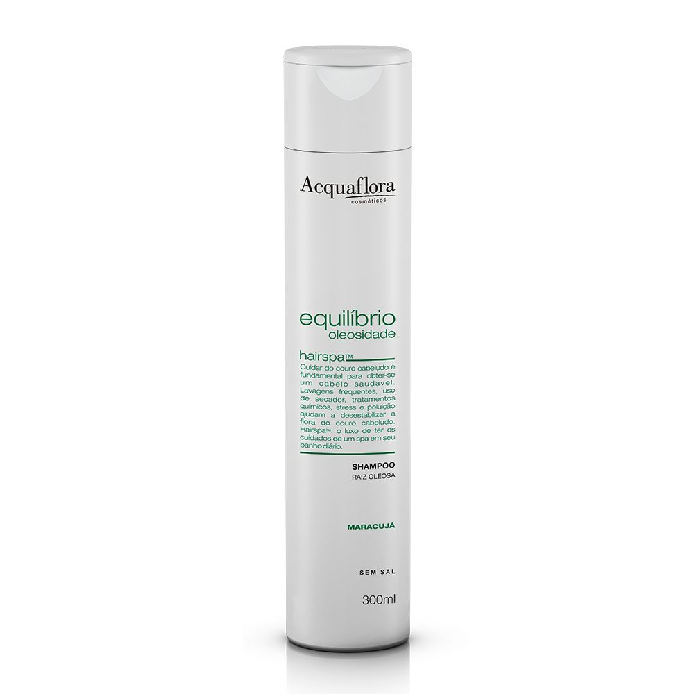 Acquaflora Shampoo Equilíbrio Oleosidade - Raiz Oleosa - Maracujá 300 mL