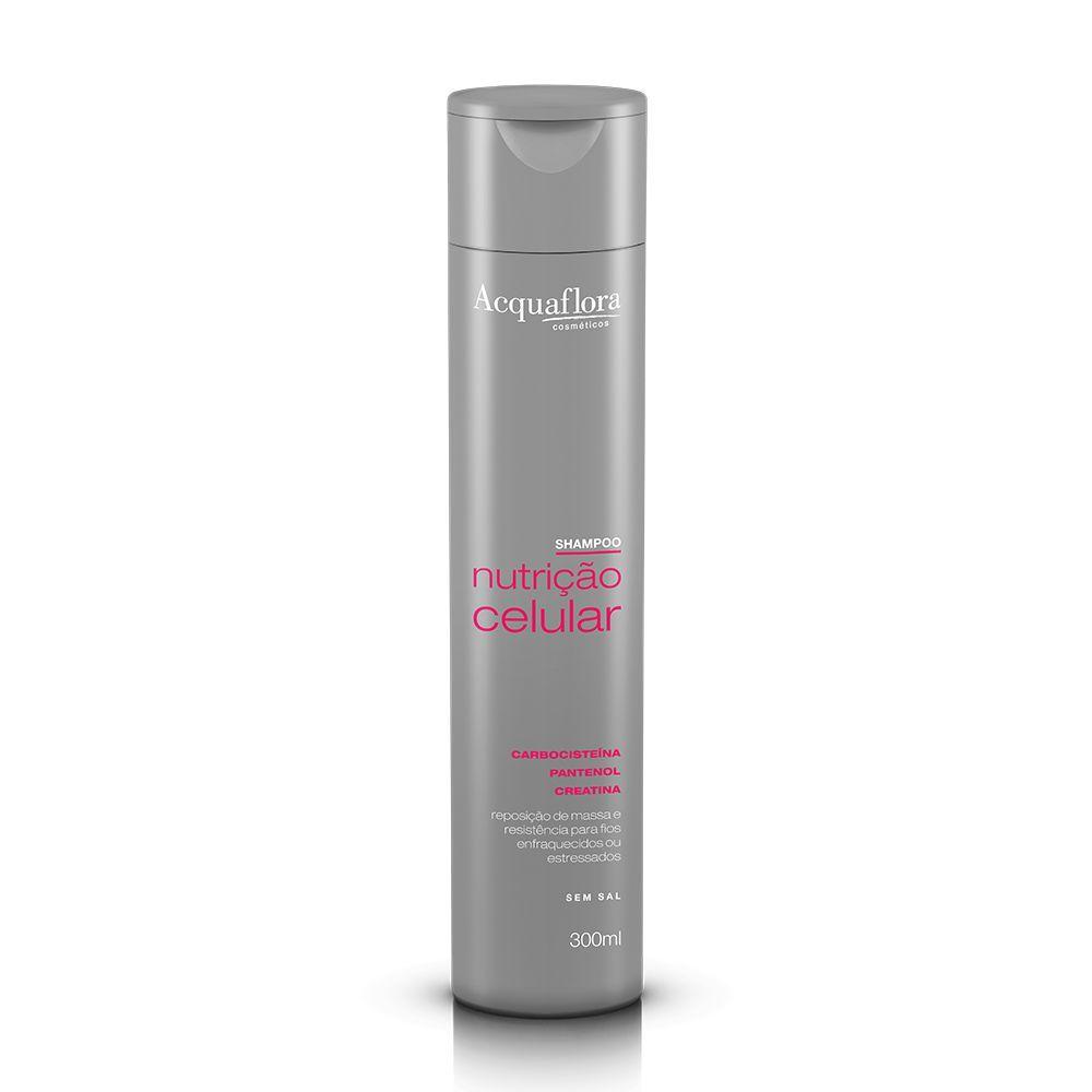 Acquaflora Shampoo Nutrição Celular - Carbocisteína, Pantenol e Creatina 300 mL