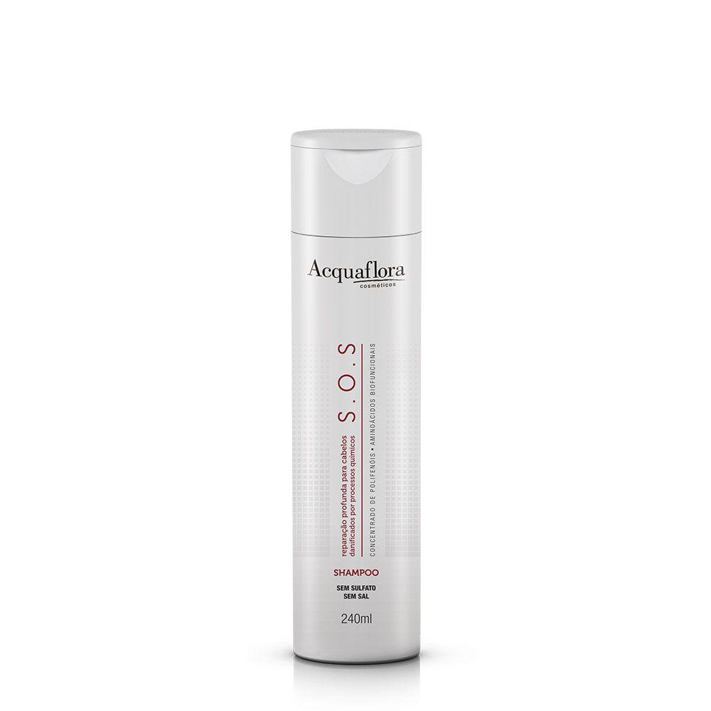 Acquaflora Shampoo S.O.S. - Concentrado de Polifenóis e Aminoácidos Biofuncionais 240 mL