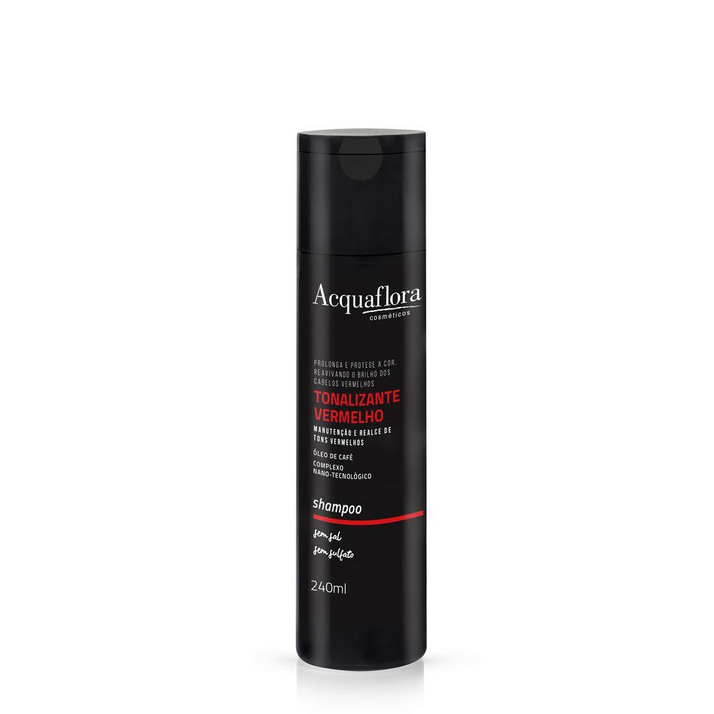 Acquaflora Shampoo Tonalizante Vermelho - Óleo de Café e Complexo Nano-tecnológico 240 mL