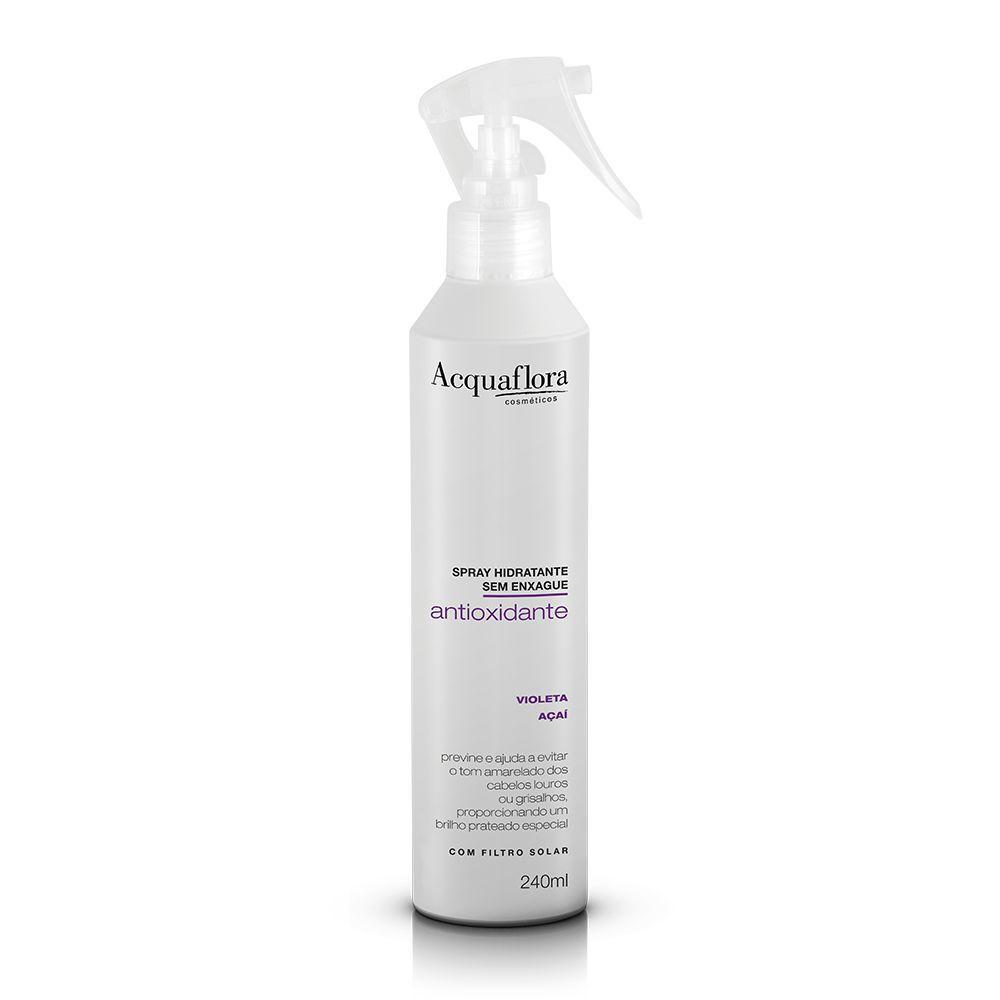 Acquaflora Spray Capilar Antioxidante Hidratante Matizador sem Enxágue  - Violeta e Açaí 240 mL