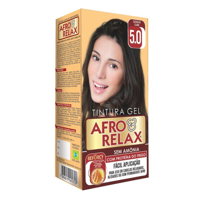 Afro & Relax Kit Tonalizante Gel Castanho Claro Castanho Claro 5.0