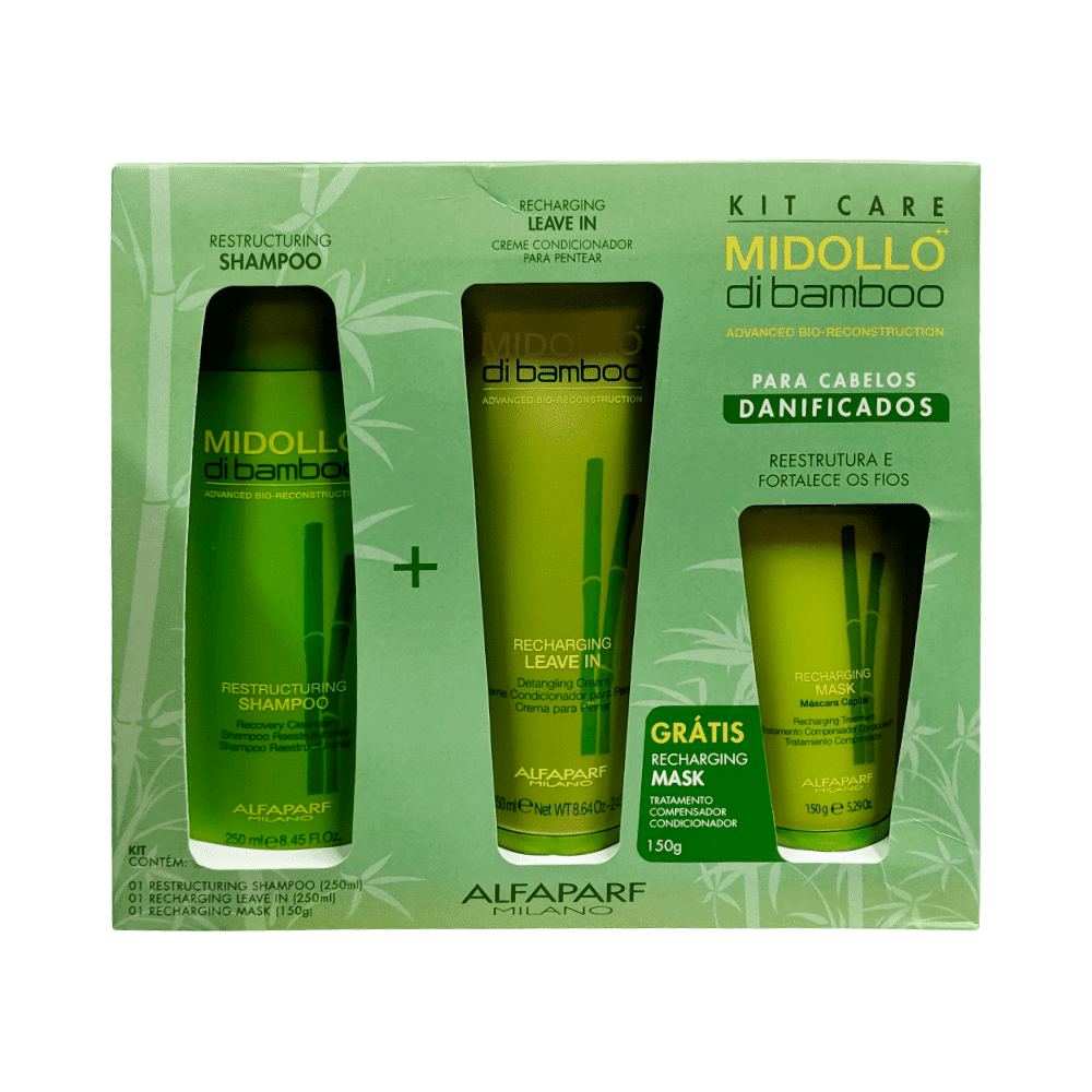 Alfaparf Kit Midollo di Bamboo Shampoo + Condicionador + Máscara 250ml+250mL+150g